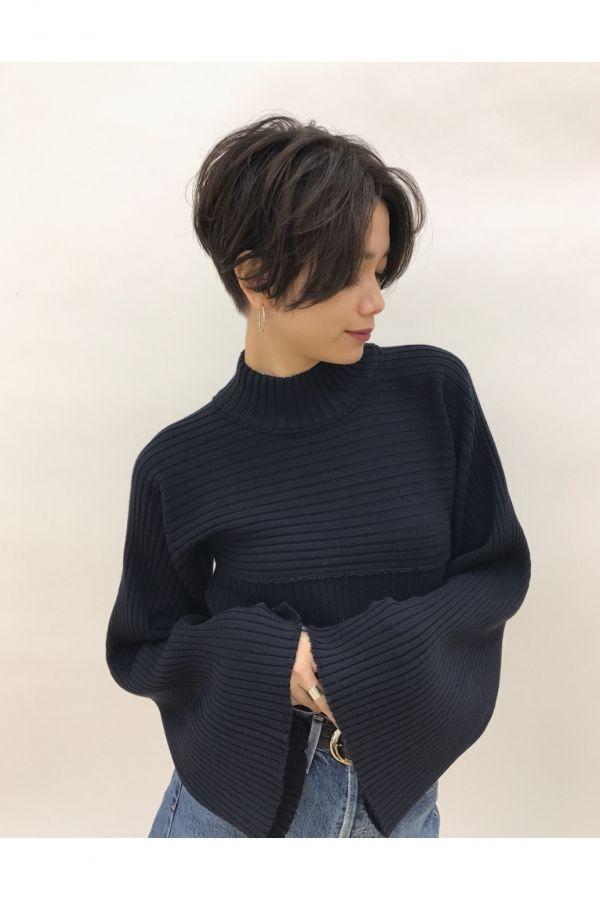 頭の形を丸く綺麗に見せる!『前下がりショートヘア』 | 美容室カキモトアームズのおすすめヘアスタイルカタログ