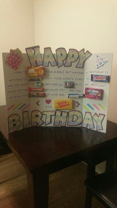 Diy candy card for my boss' birthday                                                                                                                                                     More