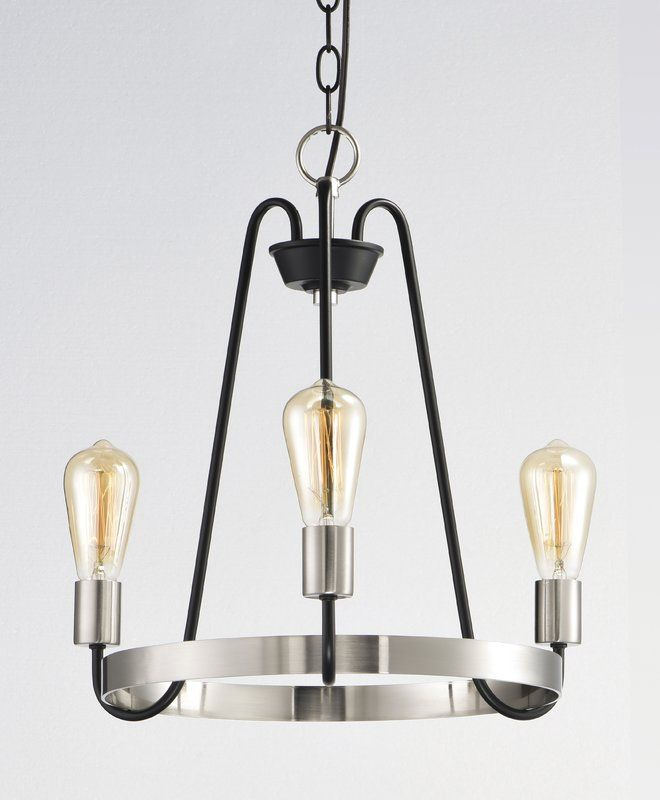 hafford 3 light candle style chandelier in 2019 kitchen rh pinterest com