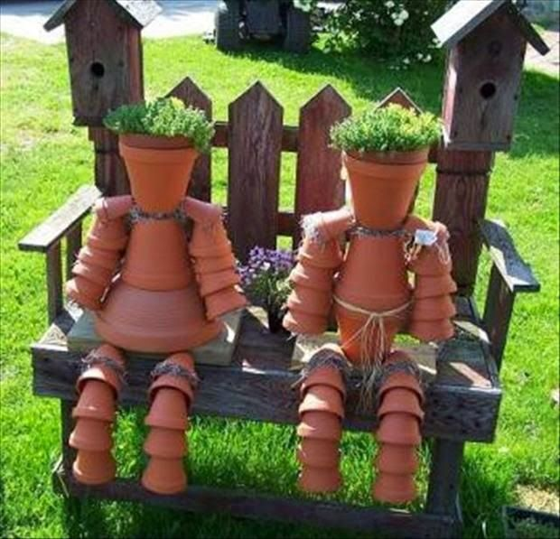Shabby In Love How To Make Clay Pot Flower People Pot People And