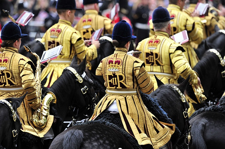 Jubilee celebrations: Britain's Household Cavalry mounted band: Queen Diamonds, Britain Households, British Royalty, Buckingham Palaces, British Royals, British Weather, Mount Bands, The Bands, Diamonds Jubilee