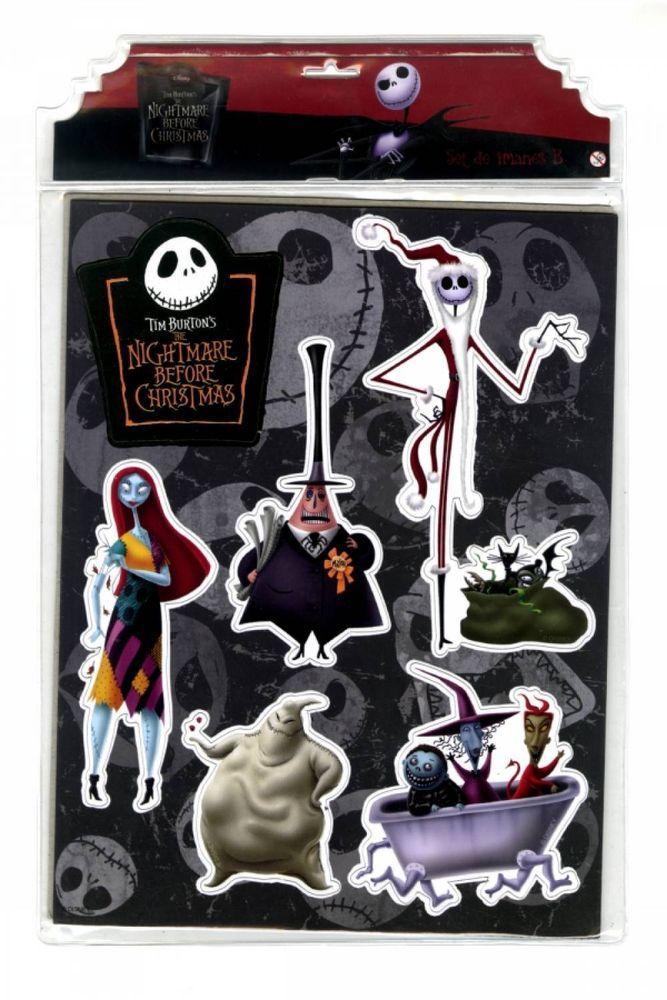 Nightmare before Christmas Magnete Set B - Jack Sally - 6 verschiedene Magnete