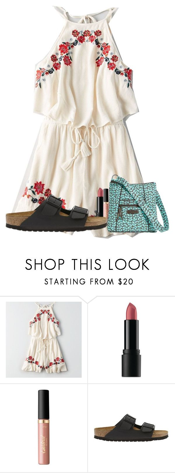 """--come alive--"" by lorla3407 on Polyvore featuring American Eagle Outfitters, Bare Escentuals, tarte, Birkenstock and Vera Bradley"