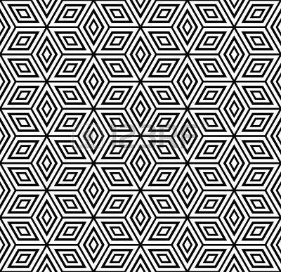 Patrón geométrico perfecto. Ilustración vectorial. Foto de archivo