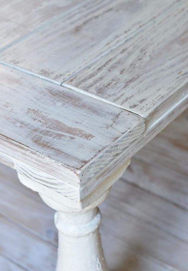 vintage möbel look selber machen techniken nassen laken weiß