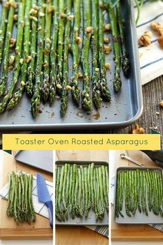 Toaster Oven Roasted Asparagus Spears drizzled with balsamic vinegar for a quick and easy two serving toaster oven vegetable recipe.