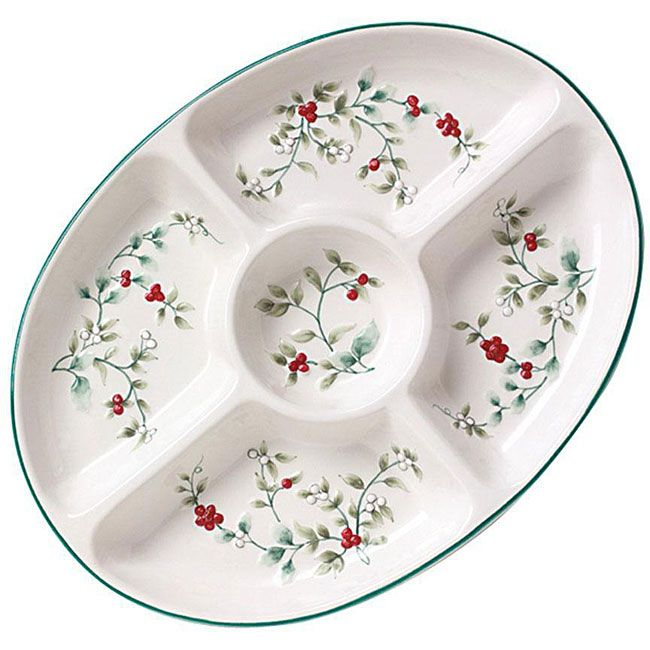 Pfaltzgraff Winterberry Oval 5-section Server - Overstock .  sc 1 st  Pinterest : list of dinnerware - Pezcame.Com