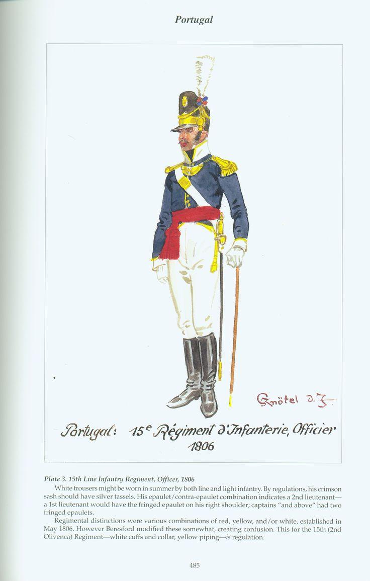 Portugal: Plate 3. 15th Line Infantry Regiment, Officer, 1806