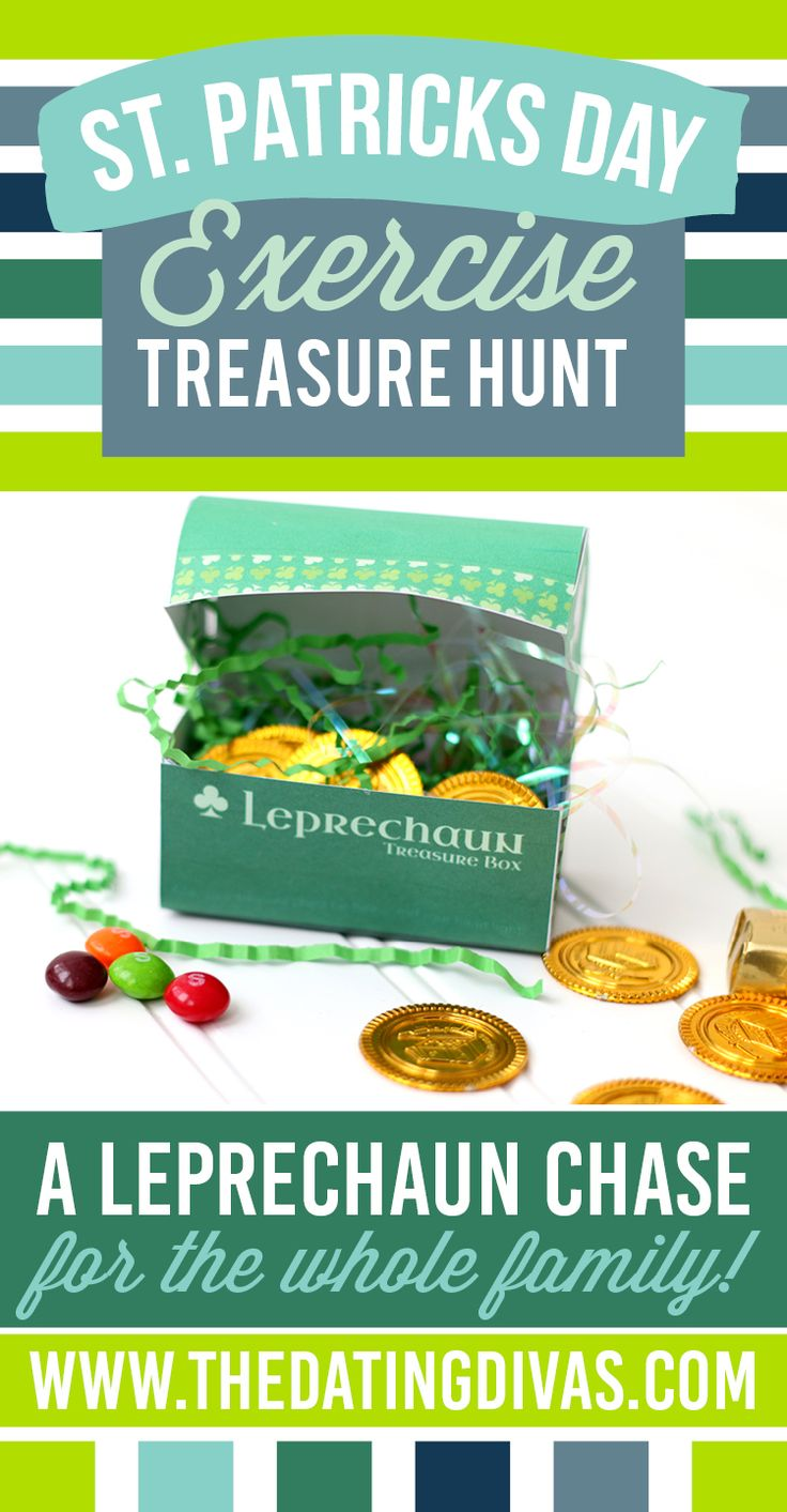 Exercise Treasure Hunt, perfect for kids on St. Patrick's Day!