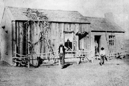 Diamond Springs Pony Express Station, Nevada. Courtesy of Nevada Historical Society Reno, NV