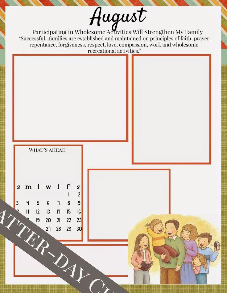 Latter-Day Chatter: Free Printable Newsletter for August {Editable}