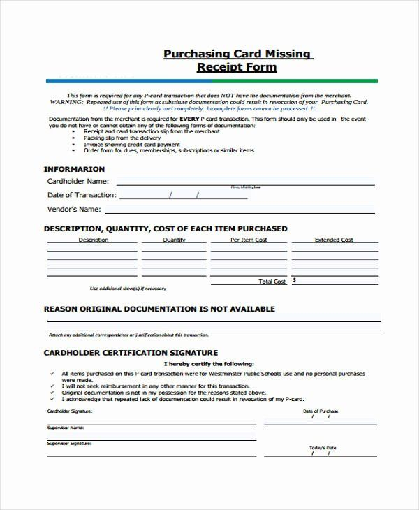 Lost Receipt Form Template Lovely Printable Receipt Forms 41 Free Documents Homeschool Lesson Plans Template Letter Templates Free Weekly Lesson Plan Template