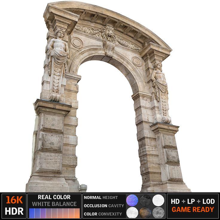 3d model old city gate 16k
