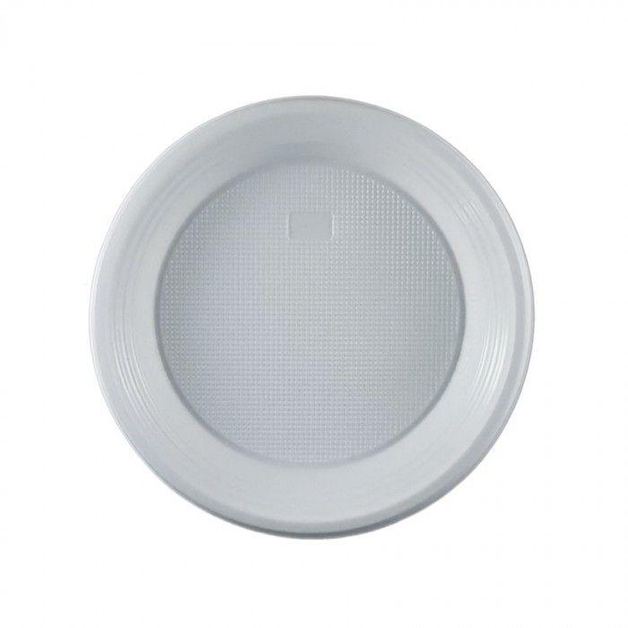 Πιάτο πλαστικό λευκό μιας χρήσης 17 cm | Εφοδιαστική