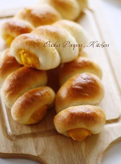 ■かぼちゃのクリームコロネ♡ ハムコーンチーズパンなど♪ by れっさ ...