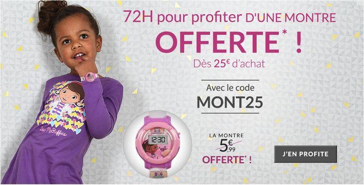 Du 28/10/15 au 30/10/15 sur www.tous-les-heros.com, profitez d'une montre offerte dès 25€ d'achat ! #mode #enfants #modeenfants #modeàpetitprix #touslesheros #superheros #heros #lesminions #minions #disney #montreofferte #cadeau #doclapeluche