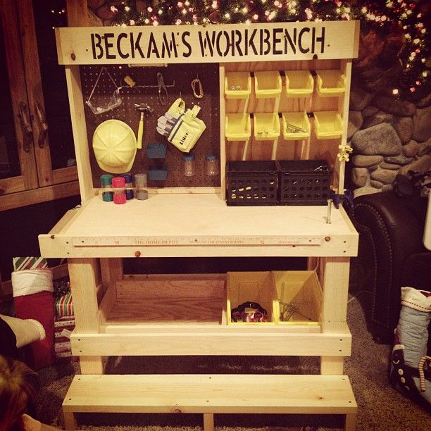 Ryan wants Santa to bring him a workbench to keep all his tools organized, he must be my kid!