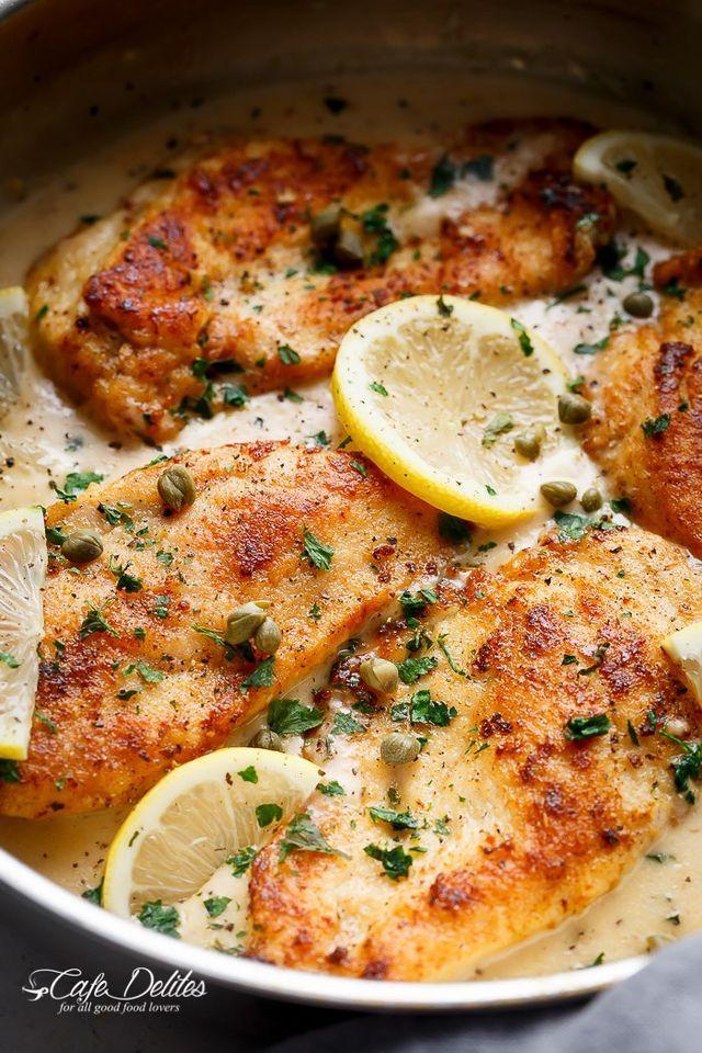 Creamy Lemon Parmesan Chicken Piccata Cafe Delites Recipe Lemon Chicken Piccata Recipes Creamy Lemon Chicken