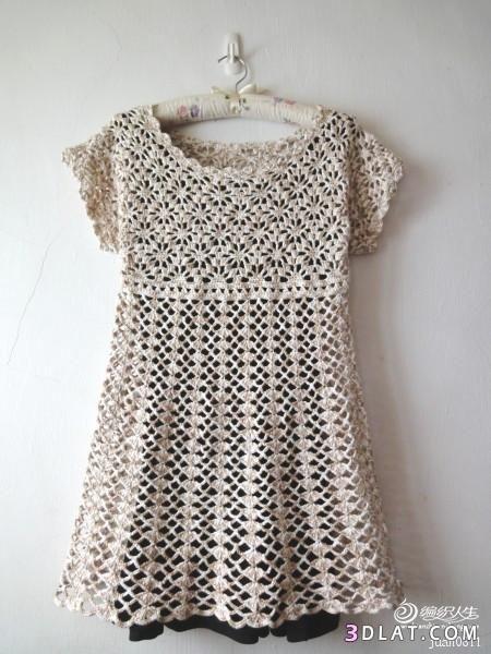 بلوزة كروشية صيفى للبنات فستان وبالباترون 13654658211.jpg