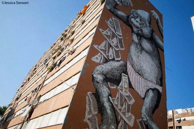 #Streetart in #Rome, #Ericailcane at #Laurentino38