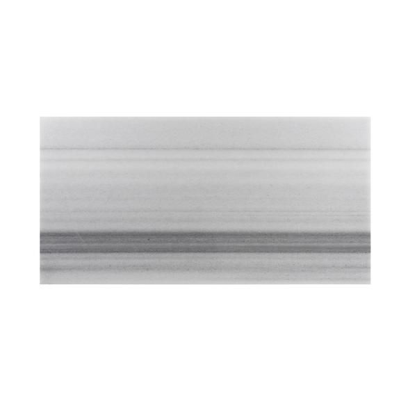Designer White & Grey Marble 12x24 Polished Marble Floor & Wall Tile