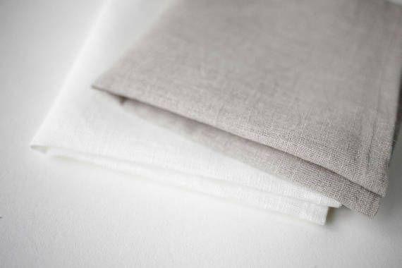 Natural linen napkins
