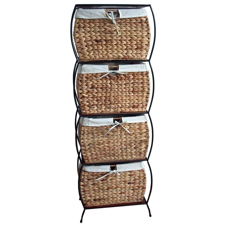 Nice Seagrass Basket Storage Pangaea Rattan 4 Drawer File Cabinet