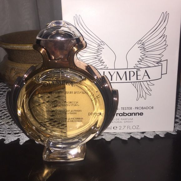 Paco Rabanne olympea. Eau de parfum This is the women version of Invictus by paco. This fragrance is only exclusive to some stores. Brand new fragrance that just came out a month ago in good condition with a tester box. Uploaded a picture with the notes of the fragrance. Price is firm on this one! Paco rabanne Other