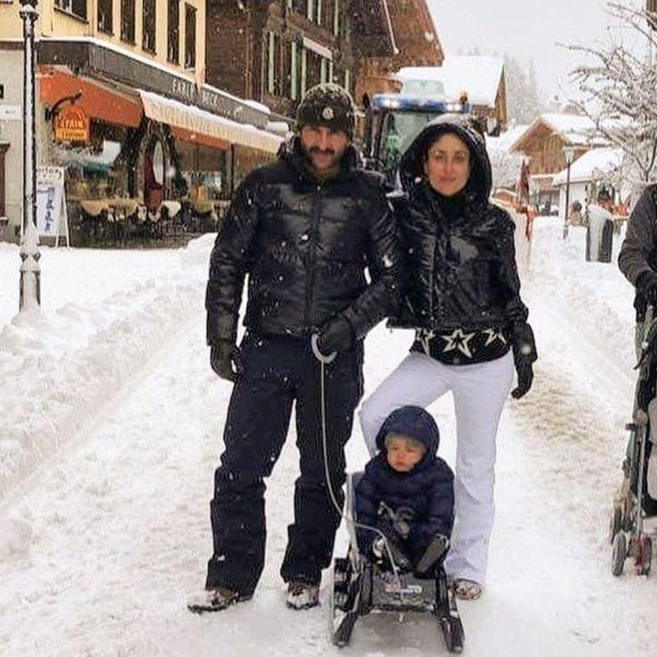 तैमूर, करीना व सैफ की नई फोटो, सीधे स्विट्जरलैंड से ( Here's The Latest Photo Of Kareena, Saif & Taimur In Switzerland )