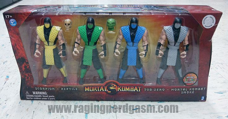 Mortal Kombat Action Figures - Scorpion Reptile Sub-Zero Mortal Kombat SmokeJazwares https://www.flickr.com/photos/ragingnerdgasm/sets/72157631185616258/