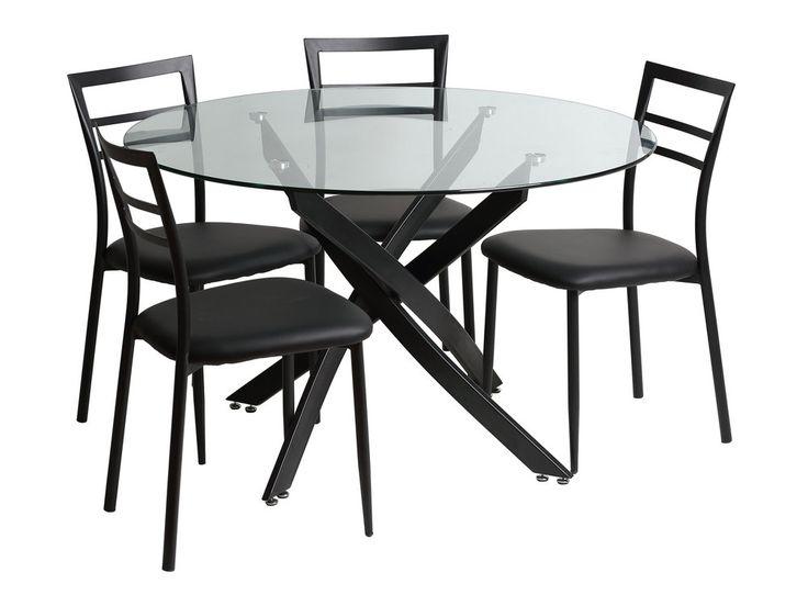 318 best meubles appart images on pinterest bicolor cat - Table a manger transparente ...