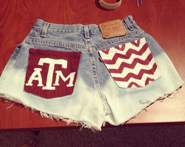 DIY: Paint your high waisted shorts for Aggie gameday!