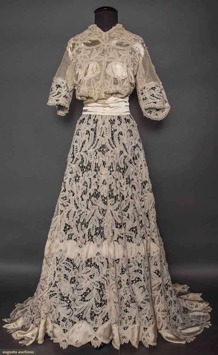 Battenburg Lace Tea Gown, C.1905, Augusta Auctions, April 8, 2015 NYC, Lot 298