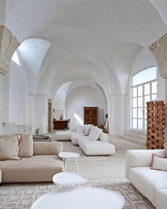 home house living room white neutral arch arched rh pinterest com