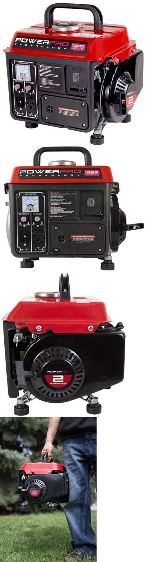 Generators and Heaters 16039: Gasoline Powered Portable Generator 1000-Watt Gas Backup Tailgating Power Supply BUY IT NOW ONLY: $192.95