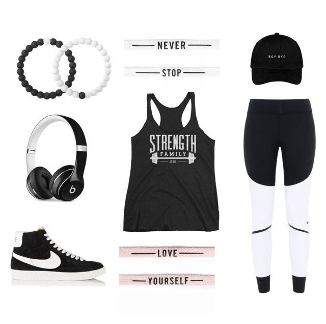 Back to Black by strengthfamily on Polyvore featuring adidas, NIKE, Lokai, Beats by Dr. Dre and activewear