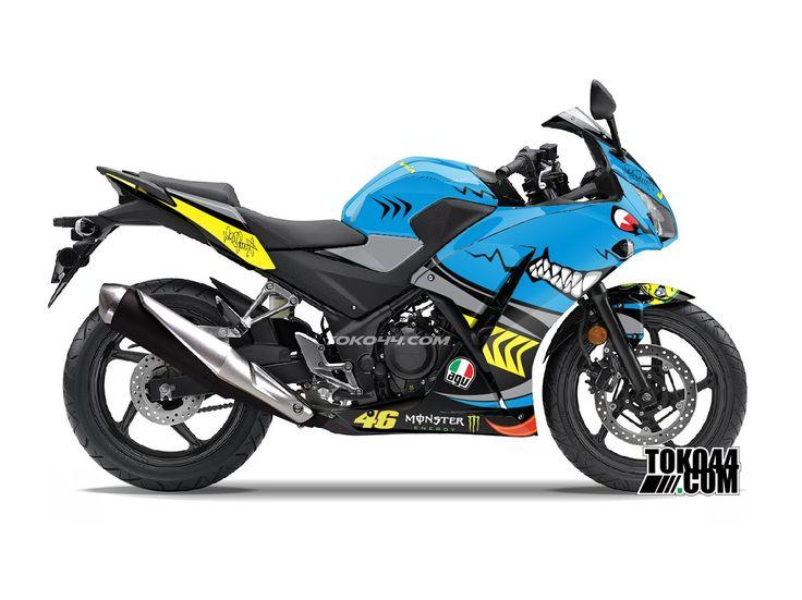 Decal Sticker CBR 150 R Hitam – Stiker Modifikasi Honda CBR 150 R K45 Lokal   Toko44.com