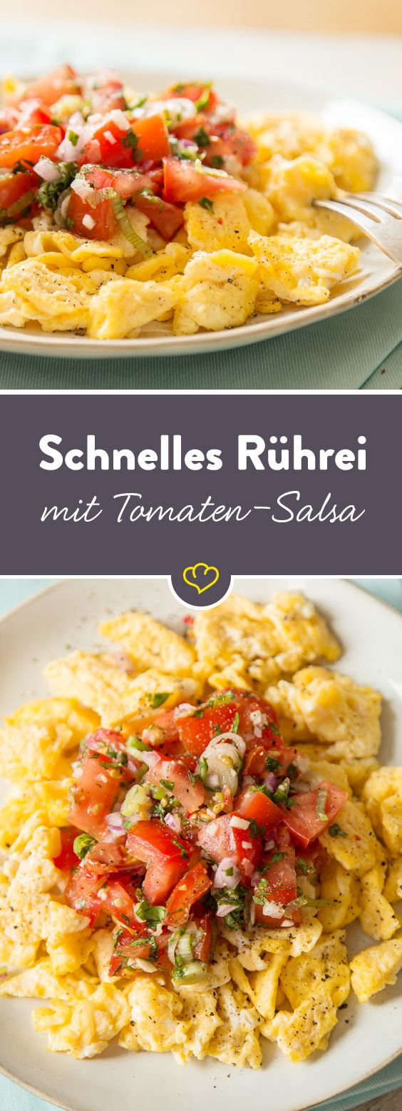 Für den schnellen Hunger: Rührei mit fruchtiger Tomatensalsa