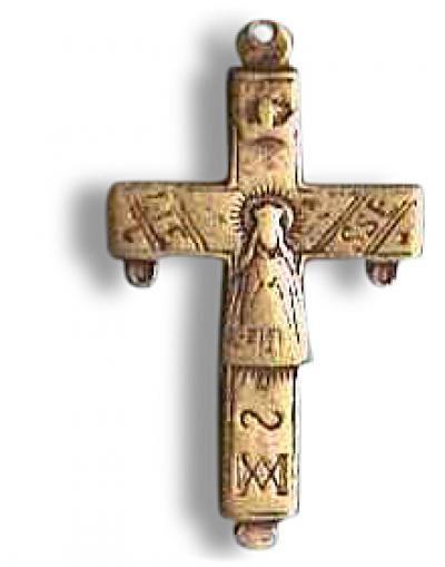 croix de Notre Dame de Liesse, bronze.