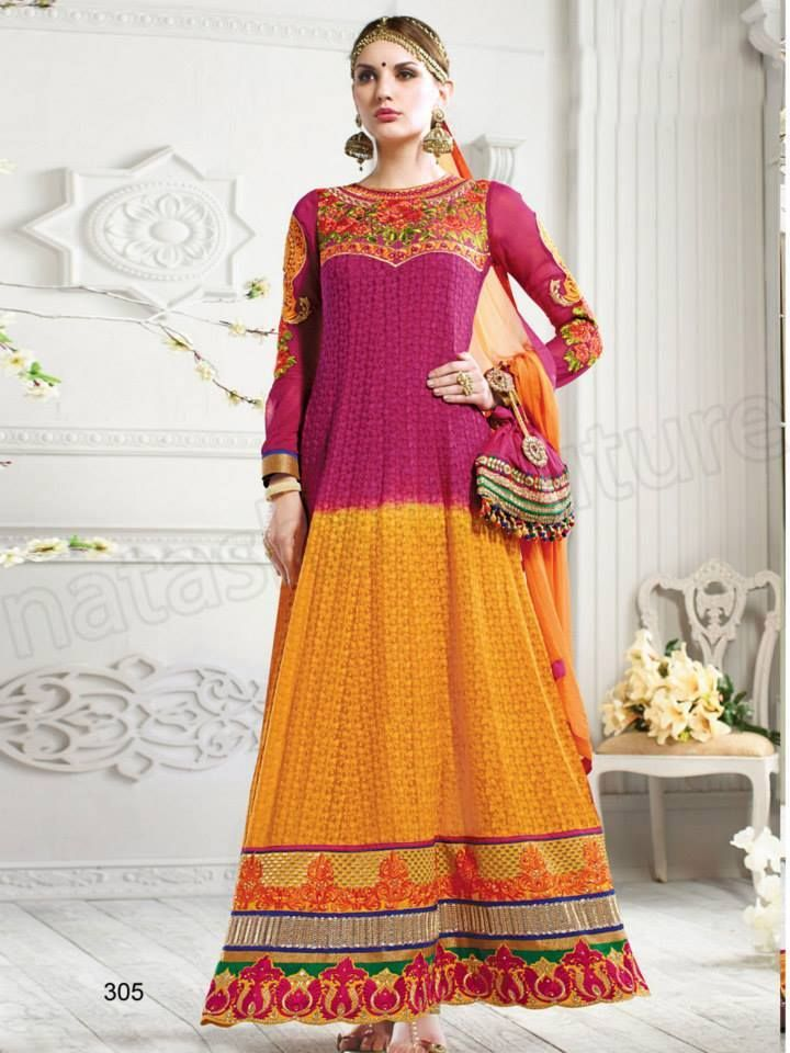 Latest Anarkali Suits Collection 2015-2016 Natasha Couture   StylesGap.com