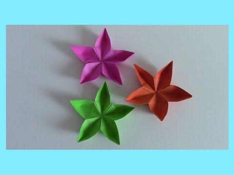 Fiori di carta Origami (Tutorial veloce)    Mami Crea - YouTube