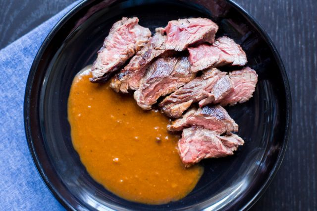 Hanger Steak with Bordelaise Sauce ~ The Domestic Man