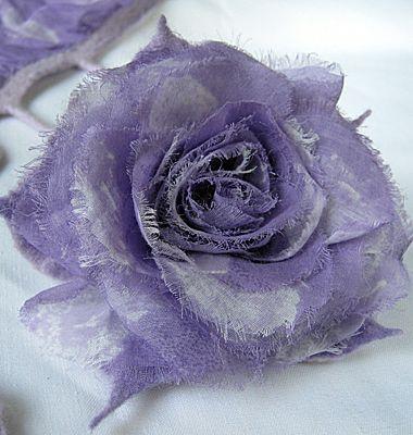 Мастер-класс. Роза из лоскутков в технике валяния