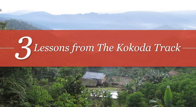 In August this year I walked the Kokoda Track for 8 days. We were a group of 6 hikers and had trained for 4 months. Here are 3 lessons I learnt....