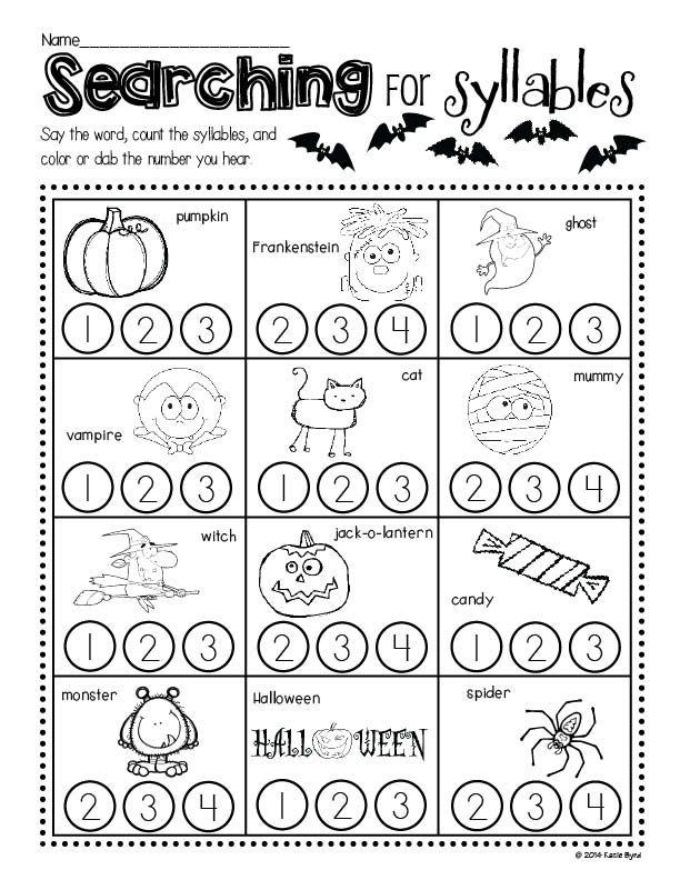 Enchanting Halloween Worksheets For Kindergarten Pictures - Coloring ...
