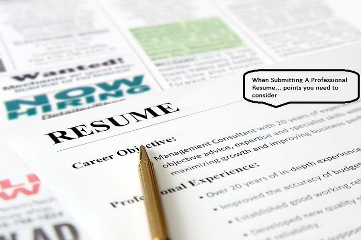 When Submitting A Professional Resume u2013 you need to make it look - resume builder professional