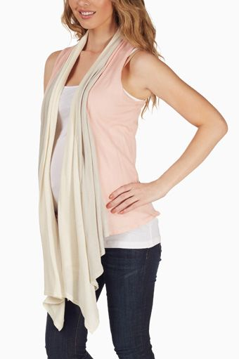 Pink-Beige-Layered-Maternity-Vest