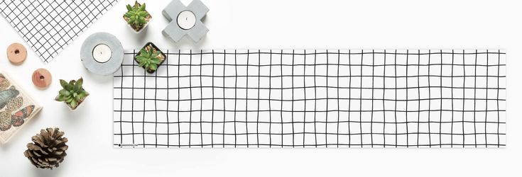 Black and white grid minimalist scandinavian Heat resistant printed placemat runner table top tableware dining Serving table setting by KerenDenisCom on Etsy https://www.etsy.com/listing/591409155/black-and-white-grid-minimalist