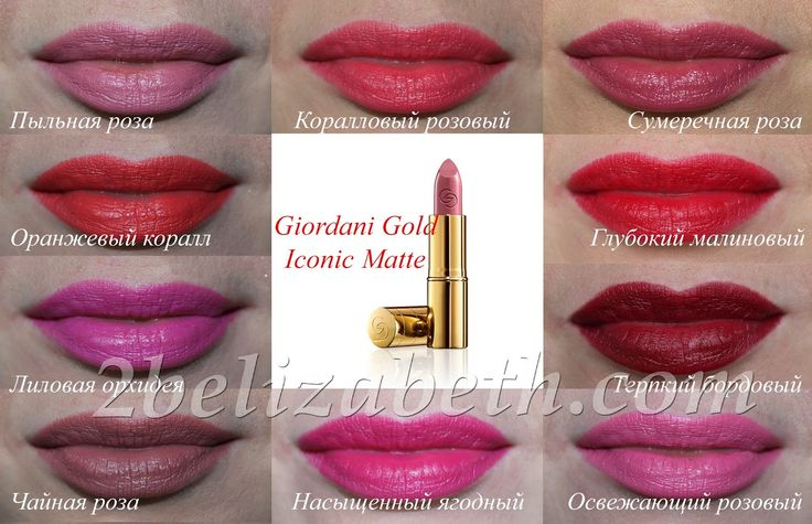 Oriflame Giordani Gold Iconic matte Матовая губная помада Икона стиля / review / swatches