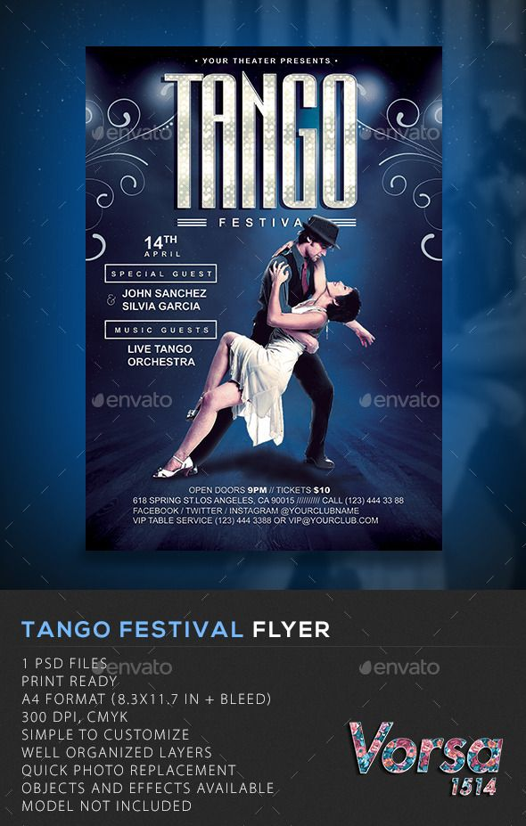 Tango Festival Flyer - Clubs & Parties Events